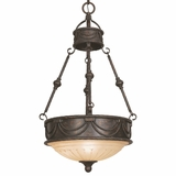 Isabella Collection Customary Stylized 3 Light Pendant Lighting in Bronze by Yosemite Home Decor