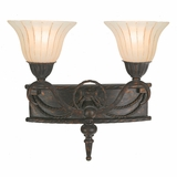 Isabella Collection Fascinating 2 Lights Vanity Lighting in Earthen Bronze Frame by Yosemite Home Decor