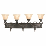 Isabella Collection Fascinating 4 Lights Vanity Lighting in Earthen Bronze Frame by Yosemite Home Decor