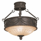 Isabella Lighting Collection Attractive Styled 3 Light Semi Flush Mount in Earthen Bronze by Yosemite Home Decor