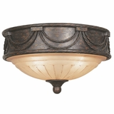 Isabella Lighting Collection Stylized Modish 3 Light Flush Mount in Earthen Bronze by Yosemite Home Decor