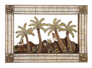 Island Palm Bamboo N Classic Metal Wall Decor Sculpture Brand Woodland