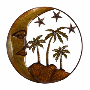 Island Sun Stars N Palms Metal Wall Art Decor Sculpture Brand Woodland