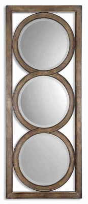 Islandro Wall Mirror with Open Transparent Frame Design Brand Uttermost