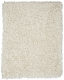 Ivory Silky Shag 5' x 8' Brand Anji Mountain by Anji Mountain
