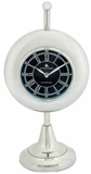 Ivory Trendy Looking Metal Table Clock by Woodland Import