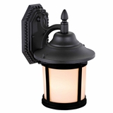 Jake Collection Stylish 1 Light Exterior Light Black Wall Mount by Yosemite Home Decor