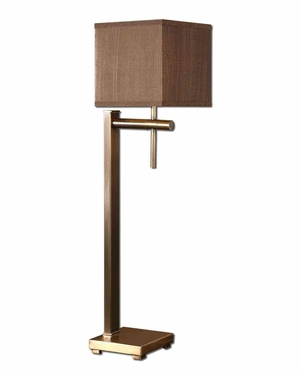 Jamari Buffet Metal Lamp in Coffee Brown Finish Brand Uttermost