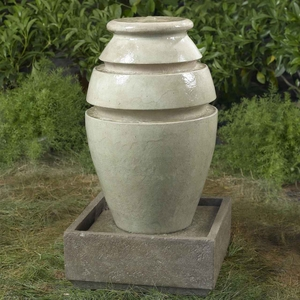Jar Outdoor/Indoor Water Fountain with Flaunting Urbane Look Brand Zest