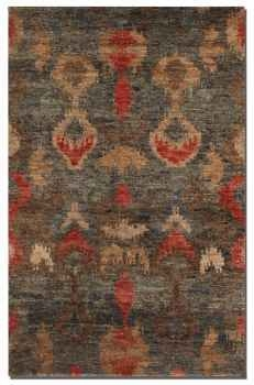 Java 6' Hand Knotted Cut Jute Rug in Heavily Dyed Aged Charcoal Brand Uttermost