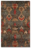Java 9' Hand Knotted Cut Jute Rug in Heavily Dyed Aged Charcoal Brand Uttermost