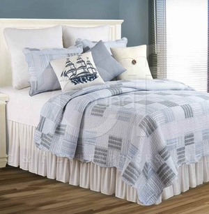 Jayden Cotton Oversized Queen Quilt with Cotton Fill Brand C&F