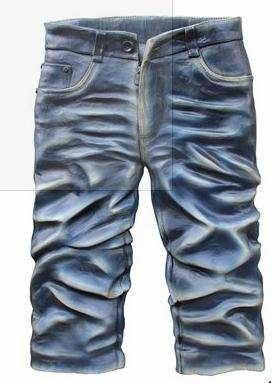 Jeans Handmade Rubber Wall Decor with Artistic Detailing Brand Screen Gem