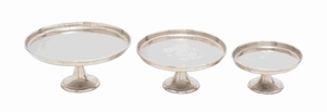 Modern Style Cake Stand Set Of Three In Minimalistic Design - 27728 by Benzara