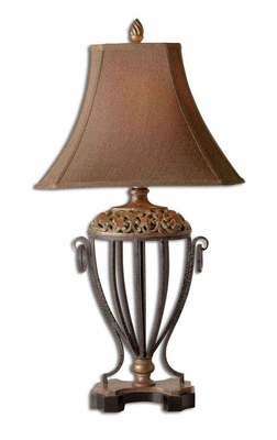 Jenelle Metal Table Lamp with Gold Leaf Finish Brand Uttermost