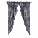 Jenson Scalloped Prairie Curtain Set of 2 63x36x18 - 25579 by VHC Brands