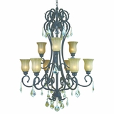 Jessica Collection Enticingly Styled 9 Lights Chandelier in Sierra Slate by Yosemite Home Decor