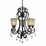 Jessica Collection Mesmerizing 5 Lights Chandelier with Hadein Sierra Slate by Yosemite Home Decor