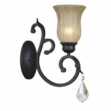 Jessica Collection Spectacularly Styled 1 Light Wall sconce in Brown by Yosemite Home Decor