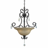 Jessica Collection Stunning 3 Light Pendant Lighting in Brown by Yosemite Home Decor