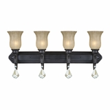 Jessica Collection Stylish and Chic 4 Lights Vanity Lighting in Sierra Slate by Yosemite Home Decor