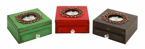 Jewel Encrusted Photo Frame Jewelry Box Brand Woodland