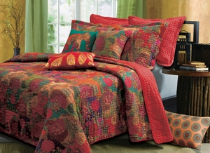 Jewel Quilt Unique Styled Ravishing King Set Brand Greenland