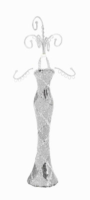 Jewelry Holder Female Body Shape with Gown in Fashionable Design Brand Woodland