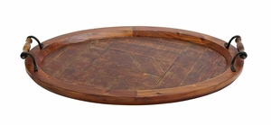 Jingr'n (Amazing) Wood Metal Tray by Woodland Import