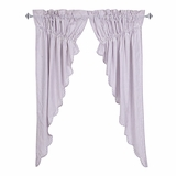 Josephine Orchid Scalloped Prairie Curtain Set of 2 63x36x18 - 26125 by VHC Brands