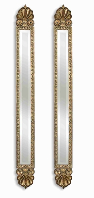 Juniper Accent Mirrors with Antique Gold Leaf Finish Brand Uttermost