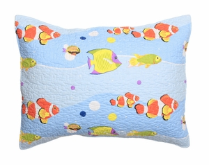 Just 4 Kids Collection Aquarius Multi Color Standard Sham by Greenland Home Fashions
