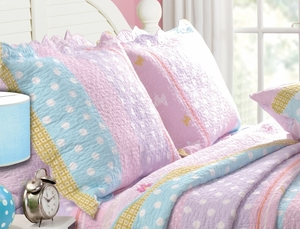 Just 4 Kids Collection Polka Dot Stripe Multi Color Standard Sham by Greenland Home Fashions