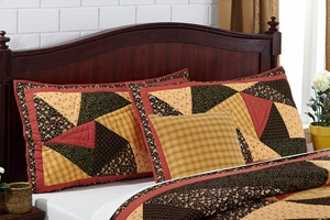 "Kadence Luxury Sham Quilted 21"" x 37"" by VHC Brands"