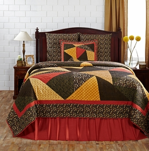 """Kadence Solid Red Bedskirt Queen 60"""" x 80"""" x 16"""" by VHC Brands"""