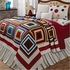 Kaleidoscope King Quilt with Multicolored Square Design Brand VHC