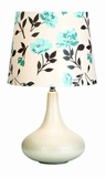 "Kate Knight White Table Lamp With Shade 25"" Brand Woodland"