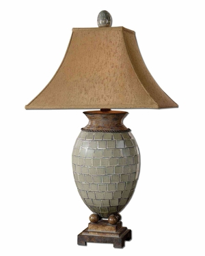 Kayson Green Mosaic Table Lamp with Intricate Details Brand Uttermost