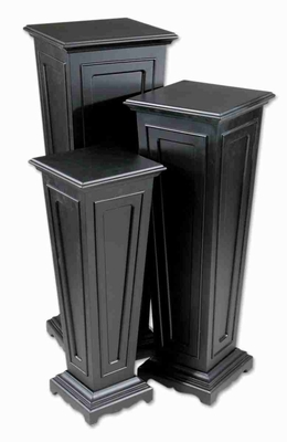Keir All Black Plant Stand Set With Matte Black Finish Brand Uttermost