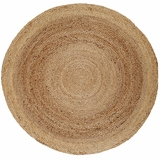 Kerala Jute Rug 8' Round Brand Anji Mountain by Anji Mountain