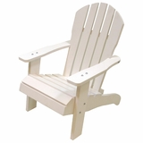 Kids Wood Adirondack Chair in WHITE by Redmon