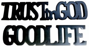 Kiel Trust in God Good Life, Enchanting And Striking Decorative Plate by D-Art