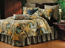 King Size Quilt, Kasbah Design, 108 Inch X 92 Inch, Handmade Brand C&F