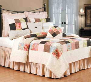 King Size Quilt Maggie Cottage Patchwork 108 Inch X 92 Inch Brand C&F