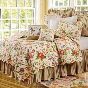 King Size Quilt Talia Cotton Handmade 108 Inch X 92 Inch Brand C&F