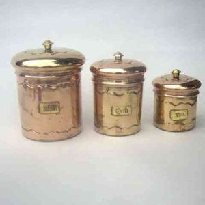 Kitchen Jars - Stunning Tea Sugar And Coffee Container Set Brand IOTC