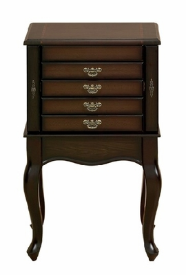 Klassic Cherry Jewelry Armoire Cabinet With Mirror Brand Woodland