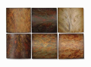Klum Colorful Collage Wall Art Set With Rust Brown Undertones Brand Uttermost