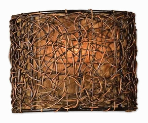 Knotted Rattan 1 Light Wall Sconce With Espresso Finish Brand Uttermost
