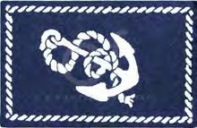 Knotty Buoy Anchor Hooked  Rug 2x3' Brand C&F